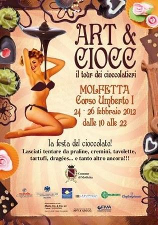 Art & Ciocc a Molfetta, i maestri cioccolatieri in tour