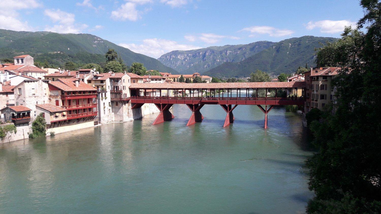Bassano vista del Ponte Vecchio