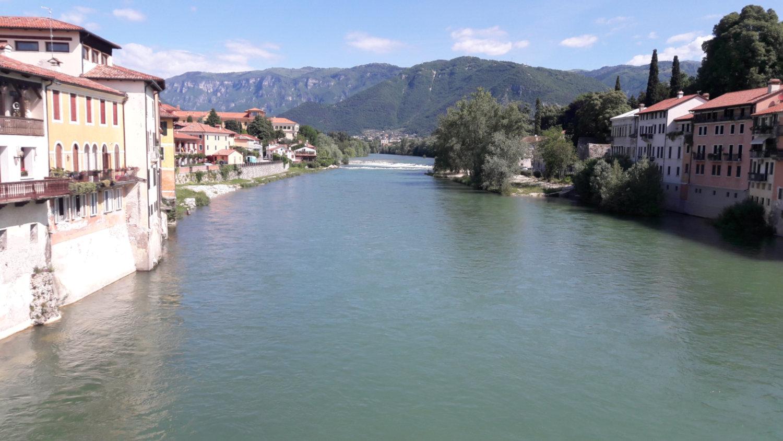 Bassano vista dal Ponte sul Brenta