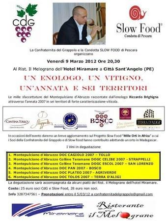 Montepulciano d'Abruzzo, degustazione guidata a Città Sant'Angelo