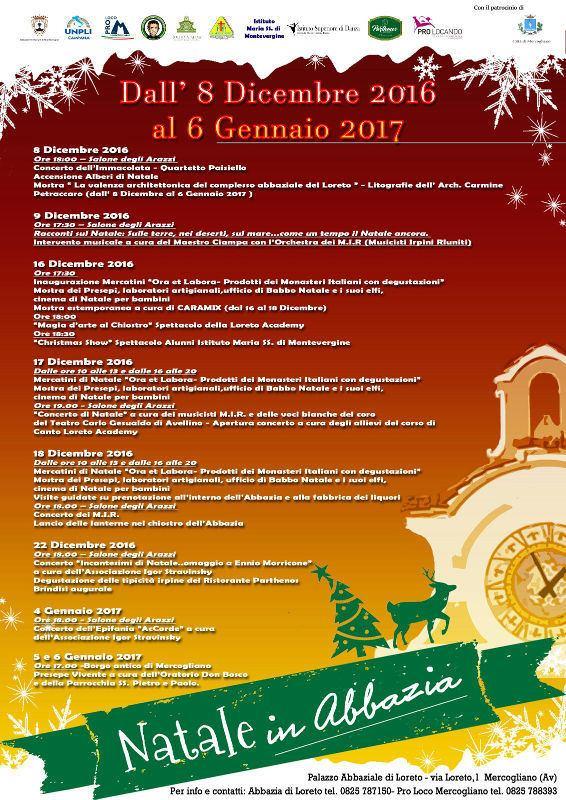 Natale in Abbazia a Mercogliano
