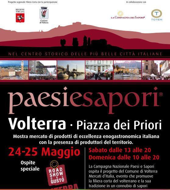 Nuovo appuntamento con Paesi e Sapori a Volterra