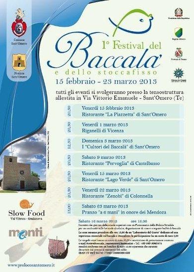 1^ Festival del Baccalà e dello Stoccafisso a Colonnella il 22 marzo