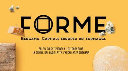 Forme, Bergamo capitale europea dei formaggi 2018