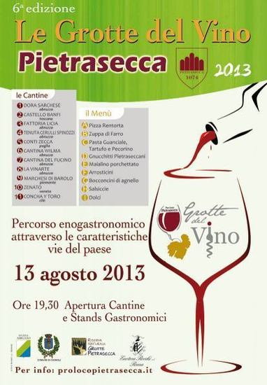 Grotte del Vino a Pietrasecca, VI edizione
