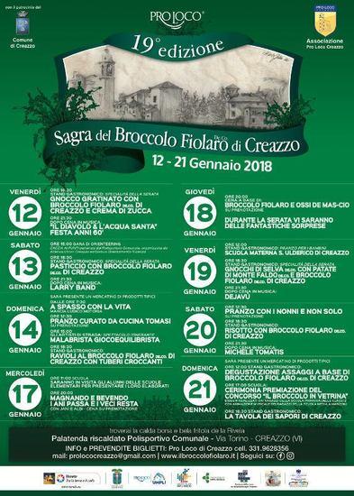 Sagra Del Broccolo Fiolaro di Creazzo 2018