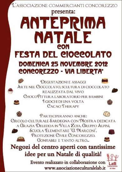 Festa del Cioccolato, Anteprima di Natale a Concorezzo
