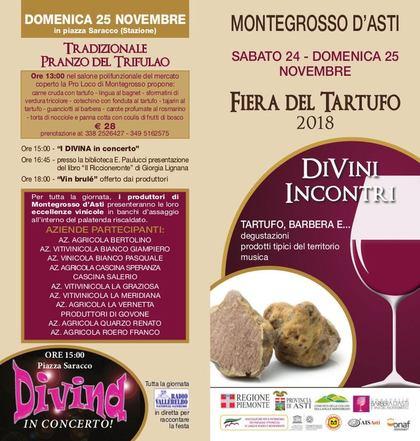 Fiera del tartufo di Montegrosso d'Asti 2018