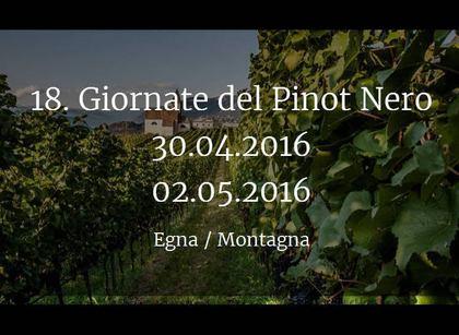 Giornate Altoatesine del Pinot Nero 2016