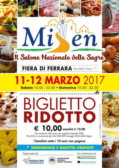 Misen - salone nazionale delle sagre a Ferrara