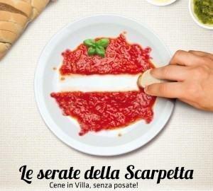 Le Serate della Scarpetta, Cene in Villa senza posate a Vicenza