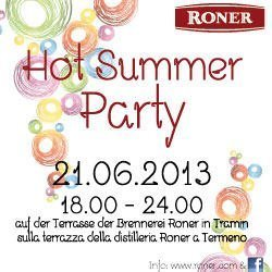 Hot Summer Party alle distillerie Roner