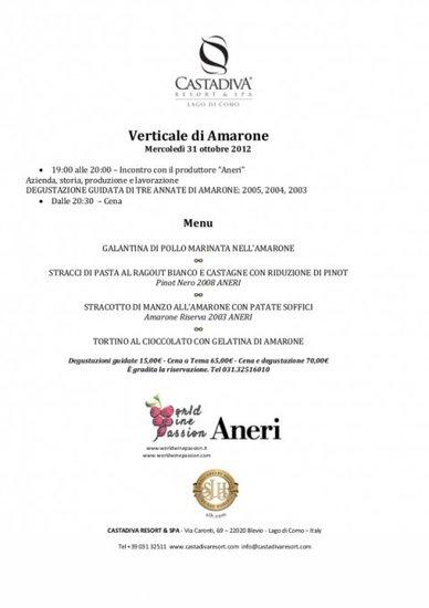 Verticale di Amarone al CastaDiva Resort con World Wide Passion