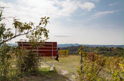 panchina gigante Giallo Moscato