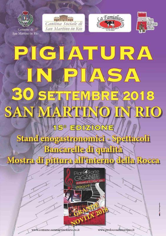 Pigiatura in Piasa 2018